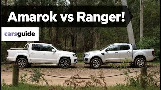 Volkswagen Amarok V6 580 vs Ford Ranger Wildtrak Bi-Turbo comparison review