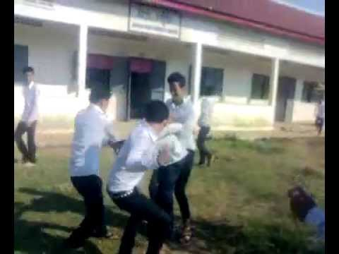 khmer student fighting at anlongvil high school