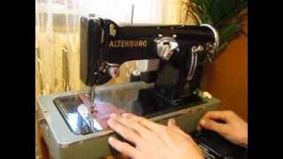 Sewing machine Швейная машина ALTENBURG 13/0408 test кожа