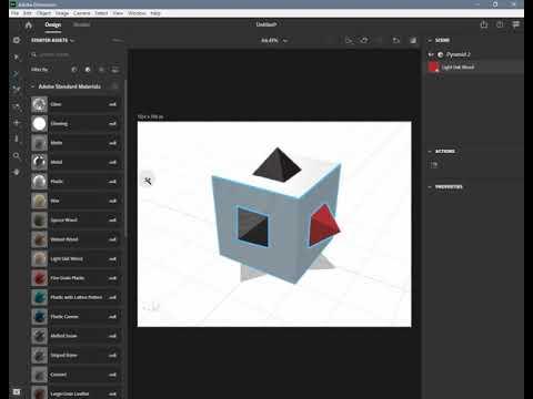 Adobe Dimension 2020 - 12 Edit Materials (in English)