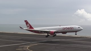Madeira Airport Air Berlin Airbus A330-300  Landing takeoff