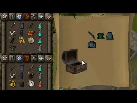 Runescape 2007 - Loot From 5 Level 3 Clue Scrolls + 3 Good Barrows Loots - Framed