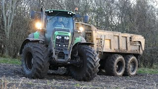 Deutz-Fahr 7250 TTV Working Hard in The Potato Field | Equipment Being Tested | DK Agriculture