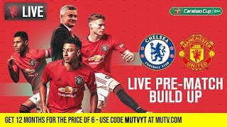 Chelsea v Manchester United - MUTV Pre-Match Build Up 18:30 (BST) | Half Price Subs Offer