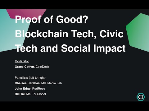 Proof of Good? Blockchain Tech, Civic Tech and Social Impact