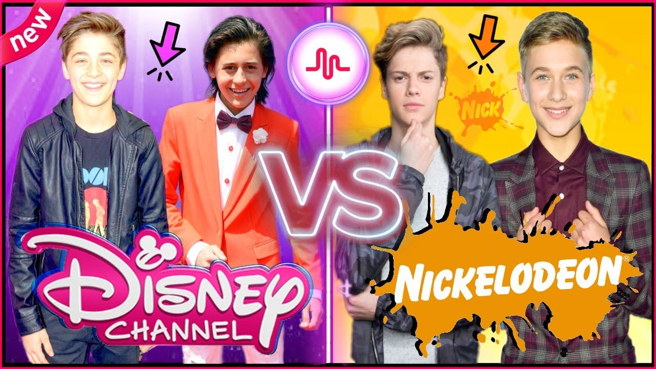 Disney Boys VS Nickelodeon Boys Musical.ly Battle | Top Famous Celebrity Boys Musically 2017