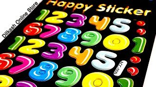 Stickers Online - Numbers Happy Sticker - ACC-009 - Dilkash Online Store