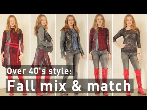 Fall mix and match for women over 40 - fashion for women over 40