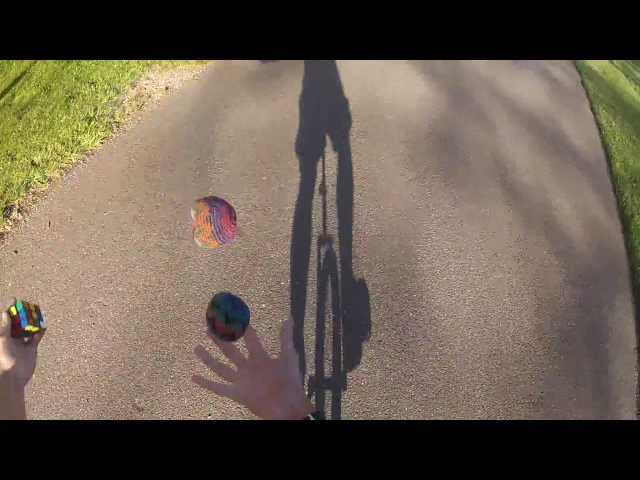 Solving a cube while juggling on a unicycle