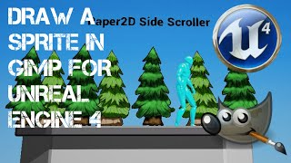 Draw a sprite in GIMP for UNREAL ENGINE 4 Paper 2D
