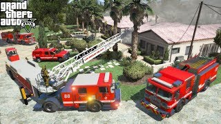 GTA 5 Firefighter Mod LAFD Task Force Responds To A Thanksgiving Day Fire