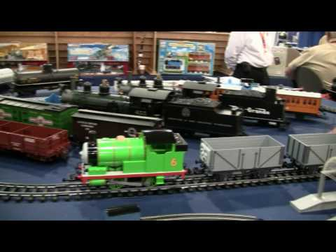 Thomas the tank engine and friends and Polar Express train show 2010 - with slow motion