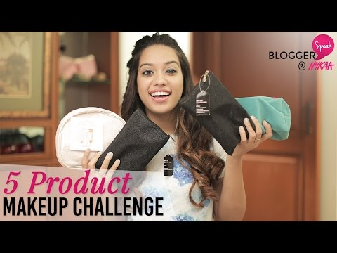 Everyday Makeup Look |5 Product Makeup Challenge + GIVEAWAY(CLOSED) | Debasree Banerjee