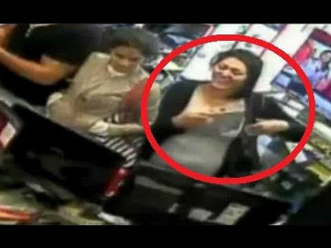 CCTV shows 'woman's brazen attempt to steal tablet from shop'