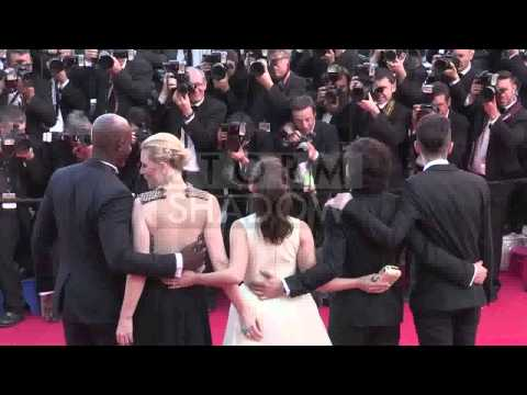 Streaker goes under America Ferrera dress in the middle of Cannes Red Carpet