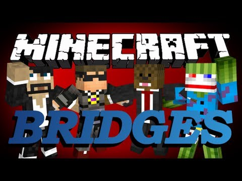 Minecraft Bridges Minigame w/ CaptainSparklez, SkyDoesMinecraft, and Bashur