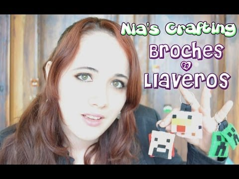 ♥¡Nia´s Crafting!♥ -Minecraft Attack- Broches & Llaveros