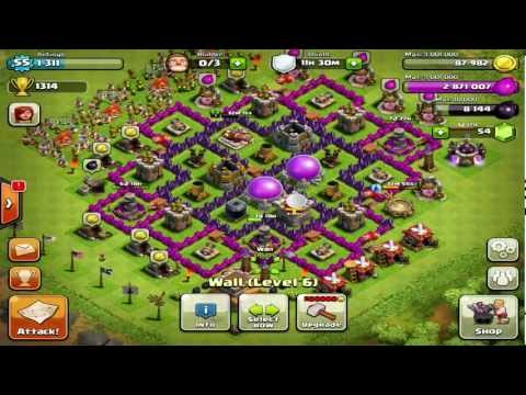 Clash of Clans : Defensive/Farming Base on Town Hall Level 8 Review