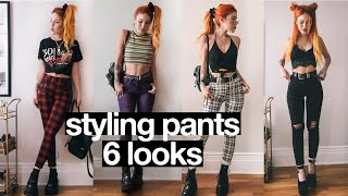 6 DIFFERENT OUTFITS : STYLING PANTS!