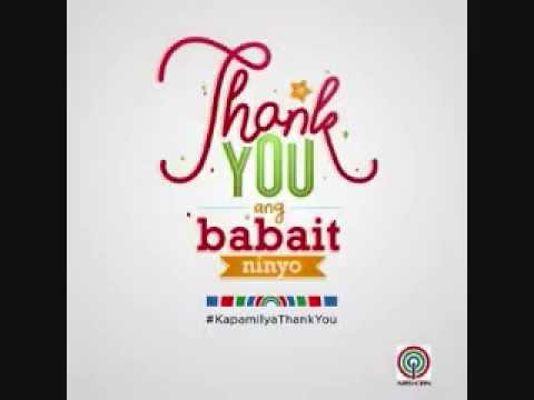 Thank You, Ang Babait Ninyo (abs-cbn Christmas Station Id 2014) Minus One video