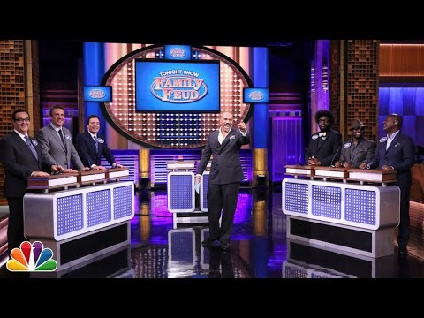 Tonight Show Family Feud with Steve Harvey and Jason Segel