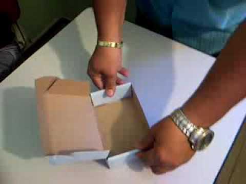 Como fazer caixas de cartolina