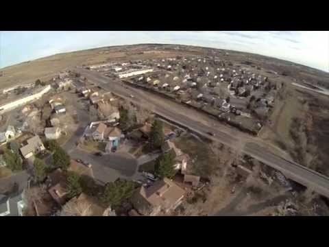 FPV Speed Racer Quad with GoPro 3 - low, fast, with a hawk, rolls, misses, flown with Dragon link