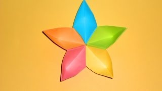 Цветок из бумаги. Поделки оригами для детей