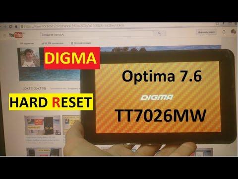 Как сделать hard reset на digma optima 101 3g