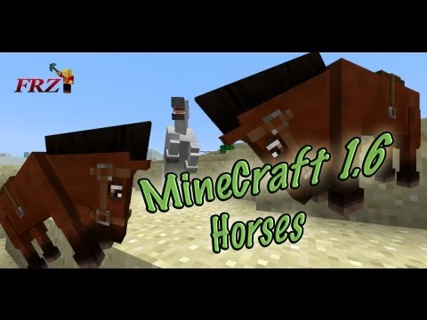 MineCraft 1.6 Snapshot 13w16a Horses With Armor. Rope!