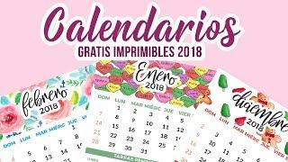 CALENDARIOS 2018 GRATIS IMPRIMIBLE- FREE PRINTABLES CALENDAR 2018 | Del Valle Blog