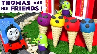 Thomas and his Friends with Spooky Ice Cream at the McDonalds Drive Thru toy stories TT4U