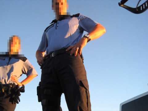Polizeikontrolle KTM SMC 660 Fahrbahnbenutzungspflicht