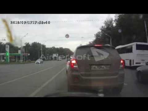 Авария мотоцикл и хонда