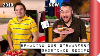 Remaking and Reviewing our old STRAWBERRY SHORTCAKE Recipe | 2010 vs 2018