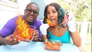 Samyung 2X Spicy Chicken Wing Challenge By Steph And Tasha