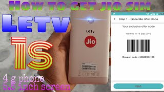 how to get jio sim on letv 1s smartphone
