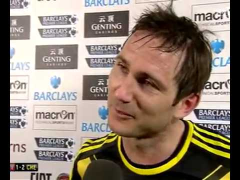 Frank Lampard's reaction after Chelsea beat Aston Villa 2.0