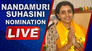 Nandamuri Suhasini files Nomination at Kukatpally Municipal Office