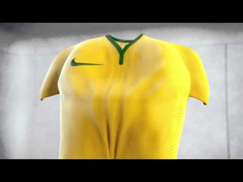Nike Brazil 2014 Home World Cup Soccer Jersey