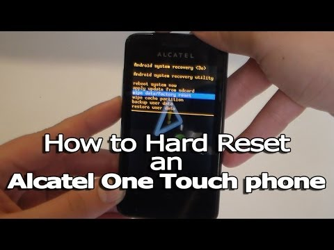 How to Hard Reset an Alcatel One Touch phone