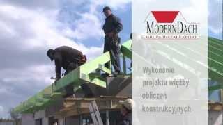 Montaż więźby dachowej konstrukcji prefabrykowanej - Dom Modelowy
