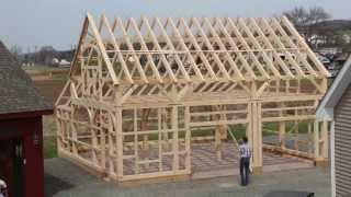 Post and Beam Barn Raising Time Lapse