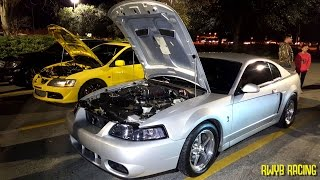 Built Turbo Evo vs Whipple Terminator Cobra & Boosted LS Single Cab STREET RACING
