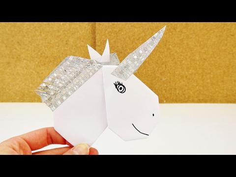 09:35 DIY EINHORN Aus Origami Herz + Washi Tape Selber Basteln | DEKO Oder  Einladung Selber Machen
