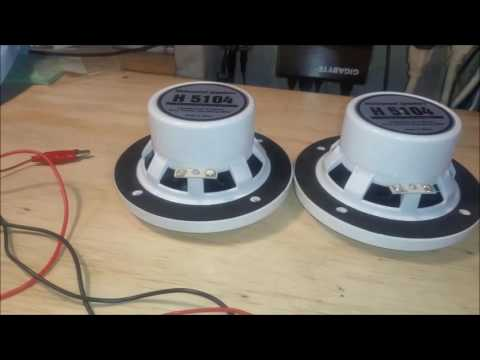 Replacement Boat Speaker Installation. demonstration of Deadbolt Banana Plugs review