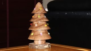 Christmas Tree Lamp. Christmas Ornament Woodturning Challenge 2015