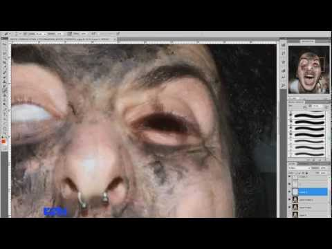 pt.1 Photoshop tutorial ITA -make up zombie