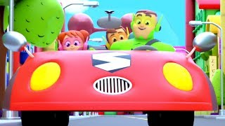 Daddy's Red Car Song | Car Songs For Children | Nursery Rhymes For Babies By The Supremes