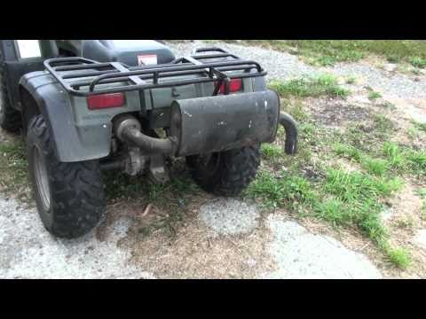 Homemade silent ATV exhaust